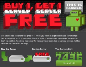 Buy One Dedicated Server, Get One Server Free