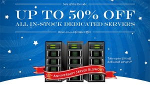 50 Percent off Dedicated Servers